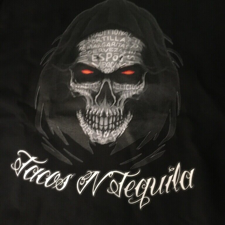 Man skull in cloak